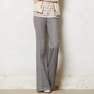 Tall Birdseye Brighton Wide-Leg Trousers